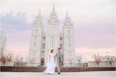 salt lake temple wedding photographer