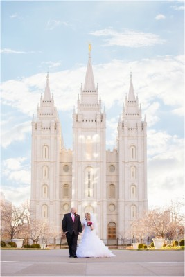 Salt Lake Temple Capitol Building Wedding by Terra Cooper