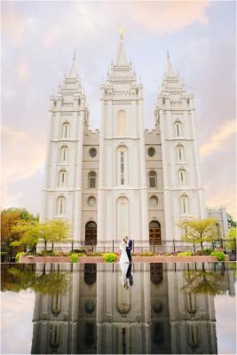 Salt Lake Temple Heritage Gardens Utah Wedding