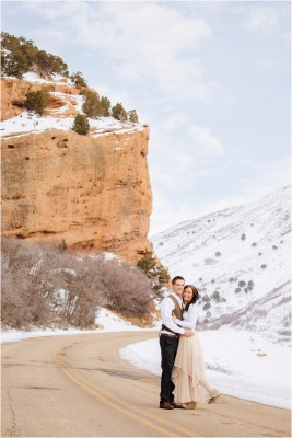 red rock winter snow engagements