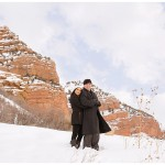 Snowy Red Rock Engagements | Terra Cooper Photography | Kenya + Mark