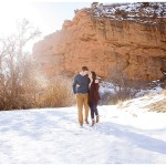 Red Rock Snowy engagements | Terra Cooper Photography | Abby + Grant