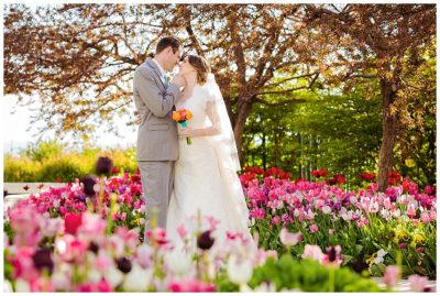 Bountiful Temple Utah Spring Wedding