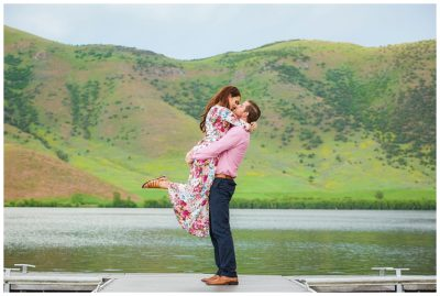 utah mountain lake engagements