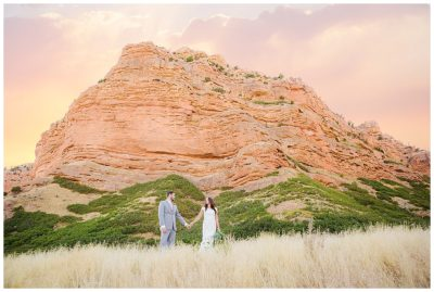 red rock utah wedding