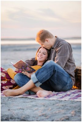 harry potter nautical beach engagements