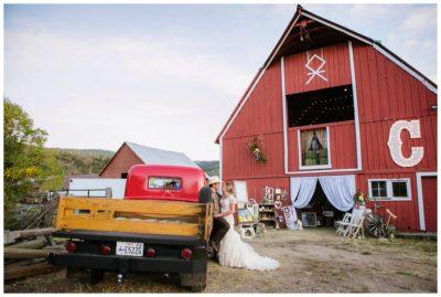 rustic barn country mountain wedding utah
