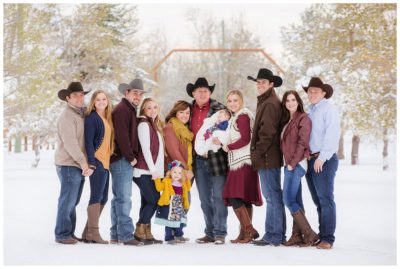utah winter family photography
