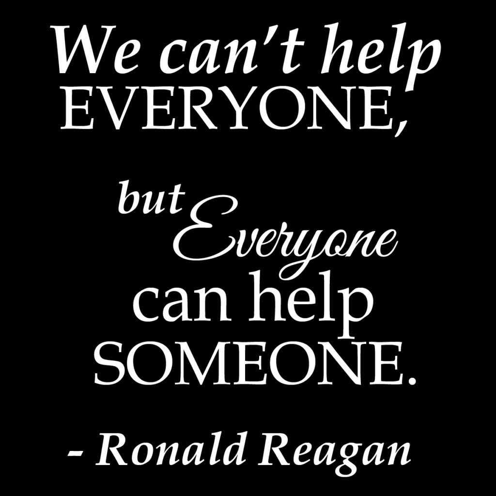 ronald reagan quotes help someone