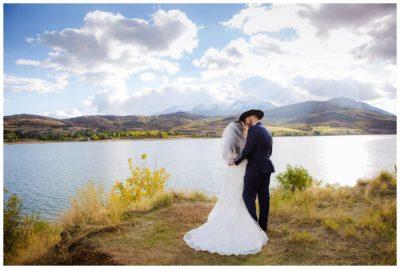 utah mountain lake wedding