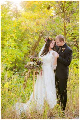 bountiful utah temple fall bridals wedding