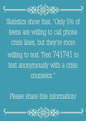 suicide text line