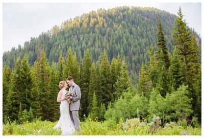 utah mountain big cottonwood canyon elopement wedding