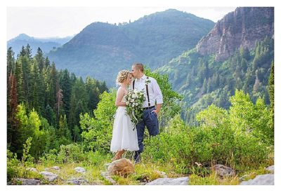 big cottonwood elopement utah wedding