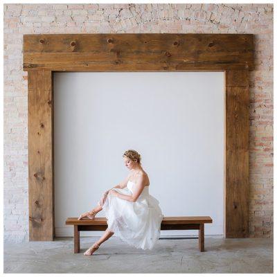 utah ballerina barefoot bride wedding photographer