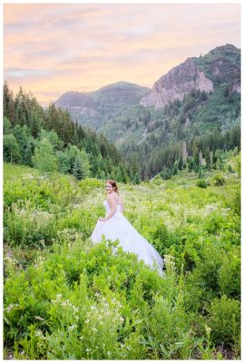 big cottonwood canyon mountain utah bridals