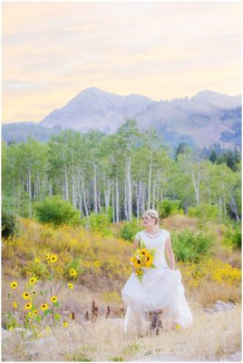 utah fall mountain bridals
