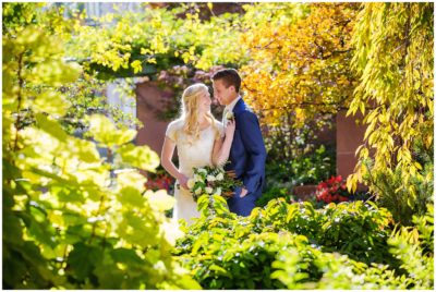 salt lake temple fall wedding
